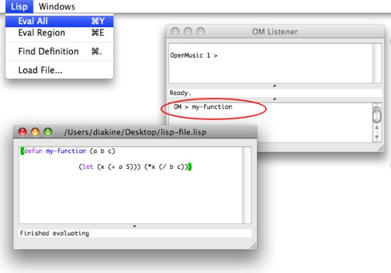 OM 6 4 – User Manual - The Lisp Editor